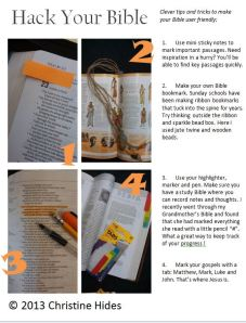 Bible Hacks: Customizing your Bible