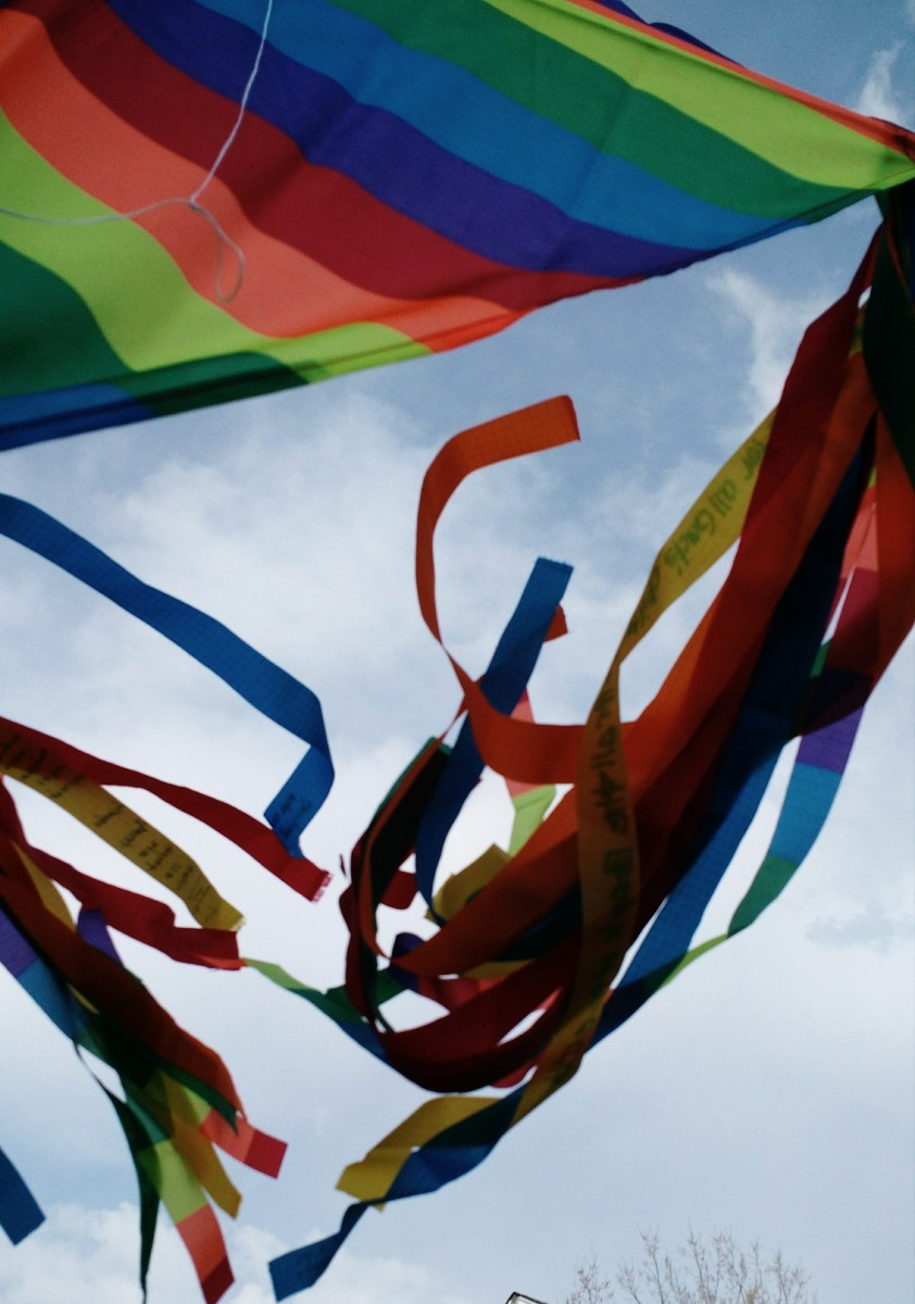 Rainbow Prayer Kite