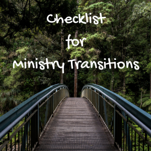 Ministry TransitionChecklist