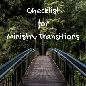 Ministry TransitionChecklist