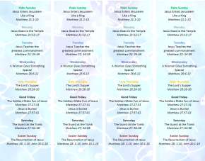 Free Holy Week Reading Bookmarks