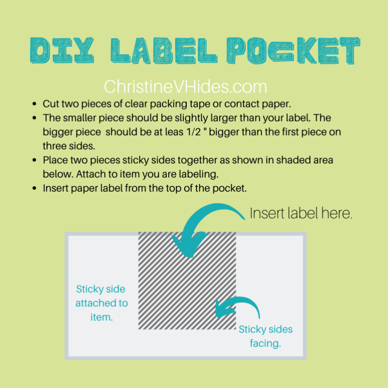 DIY Changeable Label Pocket
